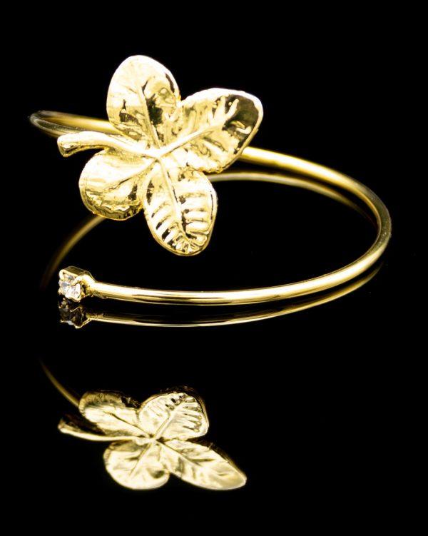 Bracciale Quadrifoglio Oro Giallo Zircone