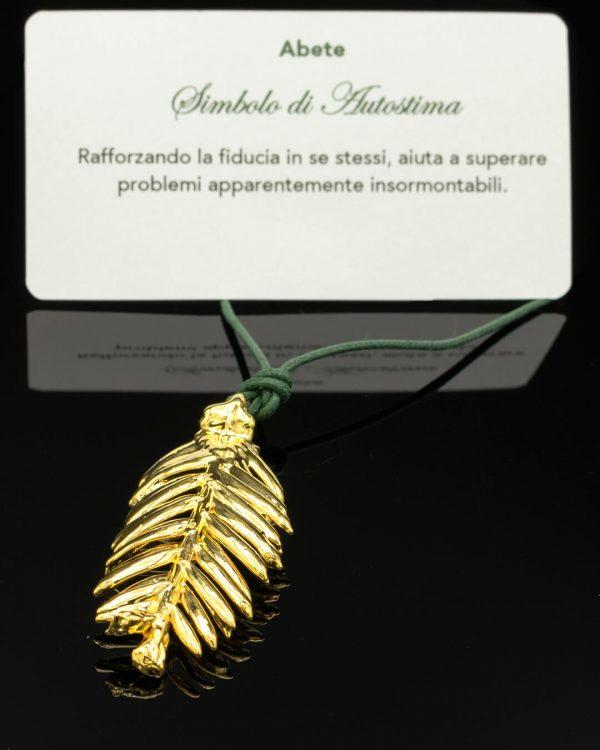 Foglia di Abete Oro Simbolo di Autostima