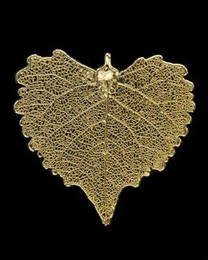 Ciondolo foglia di cotone finito oro